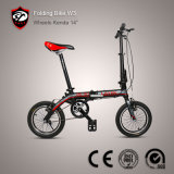 2015 bici piegante piegante della lega di alluminio della bicicletta di nuovo di modo 14 '' formato della rotella
