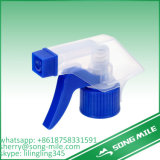 Água plástica do pulverizador do disparador da bomba de mão com tampa dobro