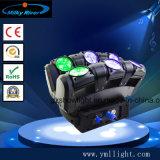 4pcs 10W CREE 4 en 1 à 4 broches de faisceau de LED RGBW tête mobile