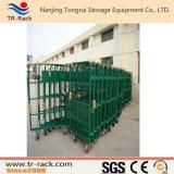 Trole logístico da gaiola do fio do armazenamento do armazém
