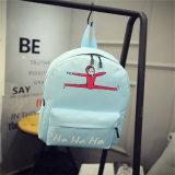 Bleu sac à dos en toile d'étudiant d'impression de dessins animés