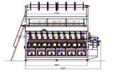 Machine de jacquard de Rjpc 4f/1 de machine à tricoter de chaîne