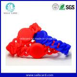 Bracelet de Chamilia d'IDENTIFICATION RF de fréquence ultra-haute de la couleur rouge ISO14443A/B