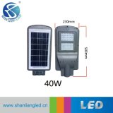 Indicatore luminoso di via solare Integrated di 20W 40W 60W LED con il comitato solare della batteria