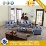 Sofá moderno mobiliário, sofá de couro genuíno de madeira (HX-SN8052)