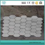 Bianco Carrara mosaicos de mármore branco de ardósia natural para o painel contra salpicos de cozinha/banheiro / Painel de parede de pedra cultivados/Ledgestone/Decoration/banheiro andar