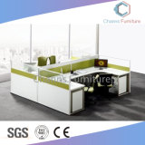 Modernes vier Sitzhölzernes Büro Workstaion (CAS-W31408)