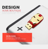 Vara popular Pendrive do USB da movimentação do flash do USB do homem do ferro do presente do projeto