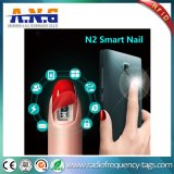 Moda caliente NFC inteligente de iluminación LED Nail Sticker sin batería