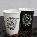 El logo impreso personalizado reciclable 12oz Una sola pared caliente taza de café de papel