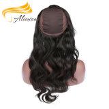 Frontal шнурка человеческих волос 360 девственницы бразильский