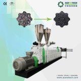 Resíduos plásticos flocos máquina de Pelotização de reciclagem