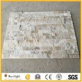 Gelber/rostiger Quarz-Kultur-Stein für Wand-Umhüllung