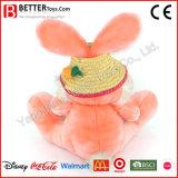 귀여운 분홍색 토끼 여자 아기를 위한 연약한 장난감 견면 벨벳 박제 동물 토끼