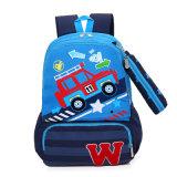 Trouxa personalizada da escola do estudante dos desenhos animados do carro saco claro durável