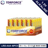 Ce/ISO 48PCS/Box (LR03/AM-4/AAA)の1.5volt一次乾燥したアルカリ電池