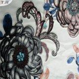 Le polyester 100% fleurit le tissu d'impression pour le rideau