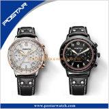 De dubbel Overkoepelde Horloges van Multfunction van de Chronograaf van het Glas Super Lichtgevende