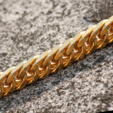 Missjewelry Mens 14K Solid Gold lien cubain de chaînes, de chaînes en or 24K pour les hommes