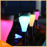 Luz LED de carga solar para jardín lámpara solar césped