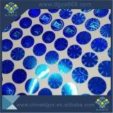파란 색깔 홀로그램 Laser 스티커 인쇄를 주문 설계하십시오