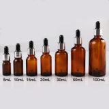 De zilveren Fles van het Druppelbuisje van het Glas van de Essentiële Olie