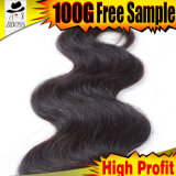 Commerce de gros cheveux Weavon Indian Remy Hair Extension Virgin Indian sèche