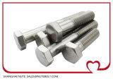 DIN931 SUS304, d'amorçage M36X100 de boulon de tête Hex de l'acier inoxydable 316 demi à M36X250