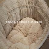 Camera calda della fossa di scolo del gatto delle basi del cane dell'ammortizzatore dell'animale domestico rotondo di lusso