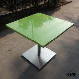 レストランのための固体表面の石造りの長く狭いダイニングテーブル