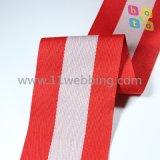 의복 부속품을%s 줄무늬 폴리에스테 가죽 끈, 길쌈된 폴리에스테 줄무늬 가죽 끈