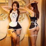 Уборка номеров единообразных костюмы роль играют 2016 женщин Sexy белье Sexy белье гостиничный комплекс с возможностью горячей замены женского белый кружевной эротический костюм 25