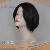 Peluca hecha a máquina llena del pelo humano (PPG-l-0264)