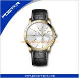 Reloj azul del cuarzo de Ginebra de la cartera de la dial del cepillo
