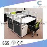 내각 CAS-W1833를 가진 고아한 디자인 파란 분할 L 모양 직원 테이블