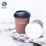 Pared disponible de la ondulación/taza doble del papel de empapelar para el té /Coffee de la leche