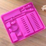 Изготовленный на заказ розовый пластичный поднос для упаковывать канцелярских принадлежностей