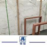 La pietra naturale ha lucidato il marmo bianco di Volakas per il davanzale della cucina/stanza da bagno/parete/pavimento/finestra/mattonelle/la scala parti superiori di vanità/rivestimento parete/della stanza da bagno/Cut-to-Size/lastra