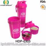 BPA liberano la bottiglia di plastica dell'agitatore della polvere di 400ml pp con il contenitore della pillola