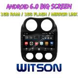 """Auto DVD des Witson 10.2 """" grosses Bildschirmandroid-6.0 für Jeep-Kompaß"""