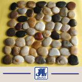 Populaires de la rivière de caillou noir poli naturelles de la pierre pour la décoration de jardin