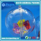 la bola transparente de la Navidad de los 3cm puede abrir la bola hueco plástica del ornamento