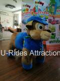 Blauer Hundetierplüsch-Spielzeug-Fahrten für Familie