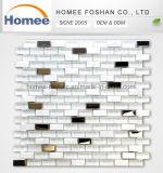 Mosaico de cristal de la piedra de la mezcla de la tira del acero inoxidable del color de la mezcla de China