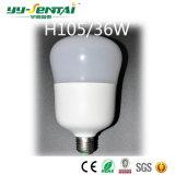 Bombilla del plástico + del aluminio E27 18W-45W LED