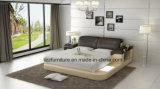 رفاهية ملكيّة أثاث لازم غرفة نوم جلد سرير مع [لد]
