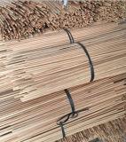 Palillos de madera revestidos del PVC para la escoba