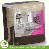 Slipcovers poco costosi su ordinazione bianchi del sofà del cappotto dello strato grandi per la casa