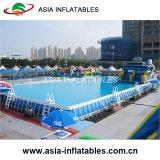 Piscina esterna, sopra la piscina al suolo, piscina del blocco per grafici del metallo