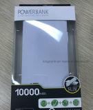 Aduana su batería portable incorporada de la potencia del cargador del cable 10000mAh de la insignia